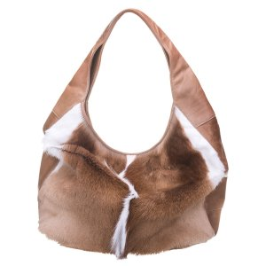 Linda Hobo Bag Natural Bok + Hazelnut